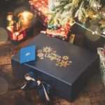 Merry Christmas rose gold box